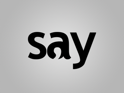 Say Logo say logo forum negative space quote