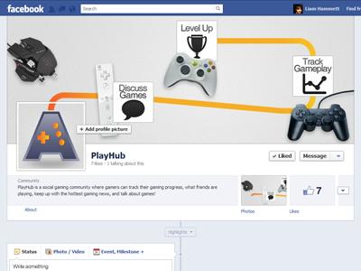 Timeline Design facebook timeline gaming playhub controllers