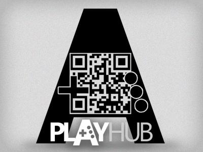 QR Code Logo qr code logo playhub gaming controller