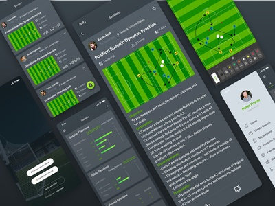 Soccer and Sports session planning app UI