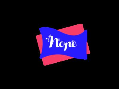 NOPE! Amusement Park weeklyui weeklywarmup weekly branding logo