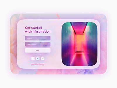 Daily UI #001 - Sign up ui design daily 100 challenge register login uidesign ui web design color daily ui