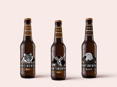 Cervezas Artesanales Continental design ilustración diseño de logo embalaje