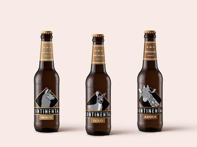 Cervezas Artesanales Continental design ilustracion diseño de logo embalaje