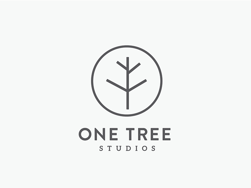 One Tree Logo kansas city film photography circle minimal tree one tree studios