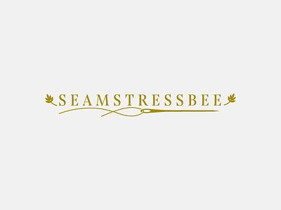 Seamstress Bee for Dribbbs serif needle thread bee pollen elder flower seamstress vintage shapes circles geometric minimal branding logo