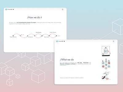 Diveedi Lab 3 ux ui mobile illustration hompage design blockchain