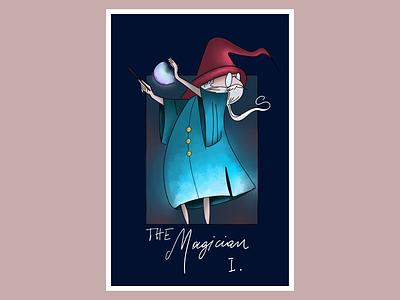 The magician adobe fresco tarots fantasy magic wizard the magician digital illustration digital art art illustration design