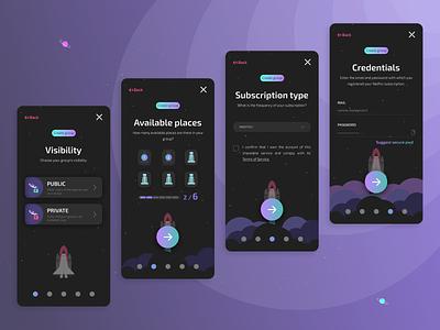 Diveedi.com (2) - Black version sharing share netflix graphic design subscription create a group webapp app mobile ux ui illustration design