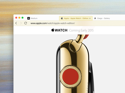 QQ Browser in Gold gold tencent skin qq theme edition browser ui iwatch