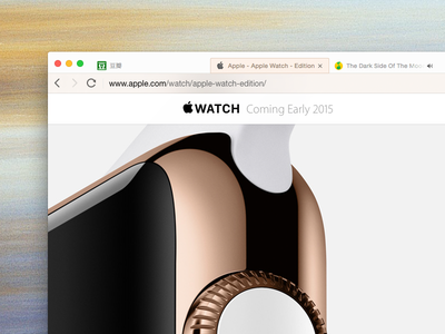 Another golden QQ Browser browser tencent gold theme iwatch skin edition ui qq