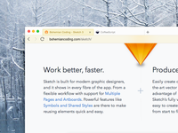 QQBrowser for Mac is designed in Sketch