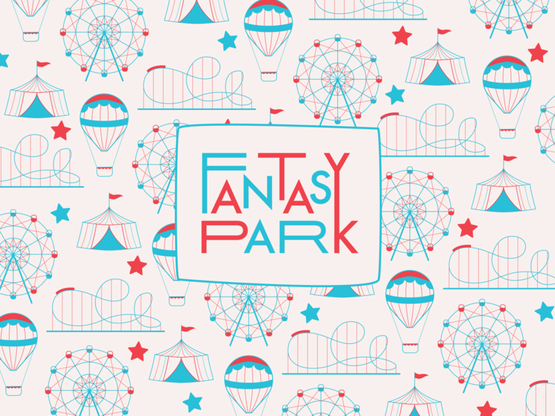 FANTASY PARK — logo design logodesign amusement park weeklywarmup graphicdesign branding logo design