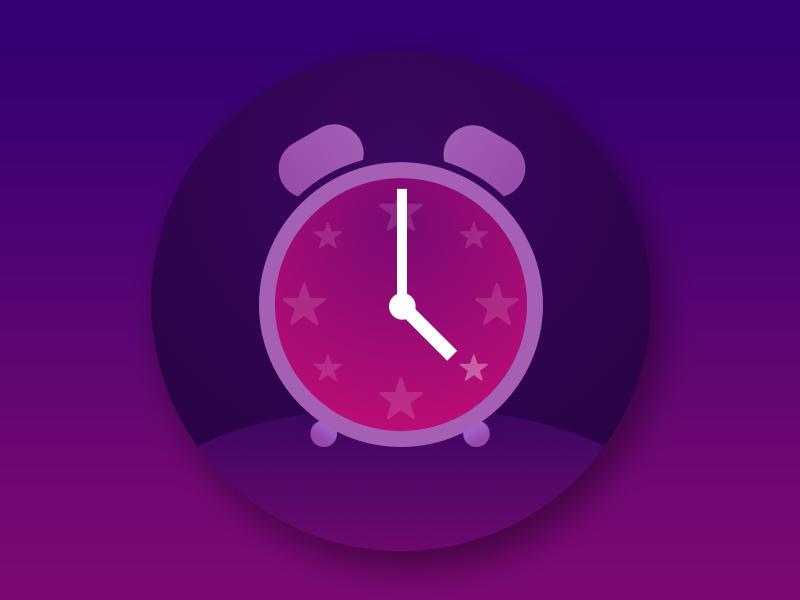 Alarm bed time time clock face clock good night purple night nite owl wake alarm wake up wake alarm