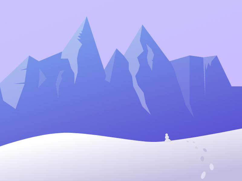 Winterland snowman snow cold winter range mountain gravit designer