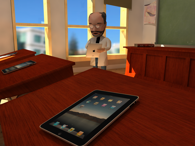 Think Different, Think iPad character digital apple ipad cartoon mac teaching 3d animation motion