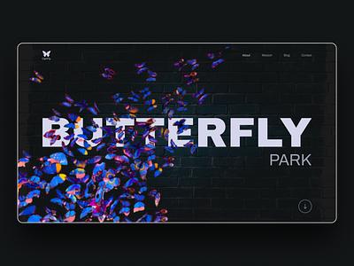 Butterfly Park minimal web ux ui design web ui ux freelance