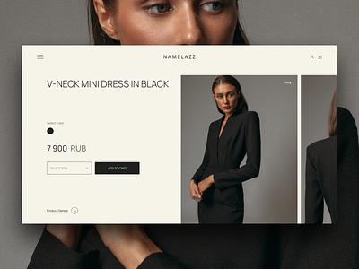Namelazz Cart redesign ecommerce shop fashion freelance figma design web ux ui design web ui ux freelance