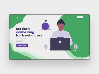 Coworking concept design coworking freelance figma design web ux ui design web ui ux freelance