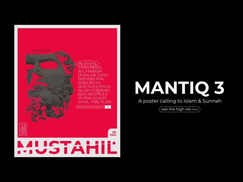 MANTIQ 3 islam indonesia designer indonesia ui typography design poster design poster art poster