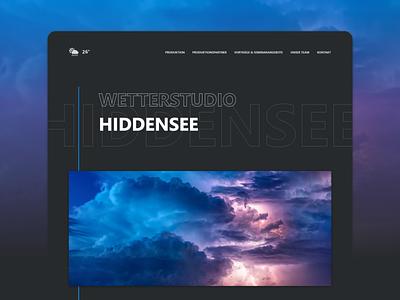 Weather Forecast Studio Hiddensee Landing Page webdevelopment webdesign website weather forecast bitbithooray weather ux ui design typography minimal landing page design dark branding