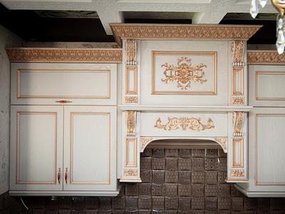 Кухня «Валенсия» ваниль с золотой патиной. mezzo прованс мебель