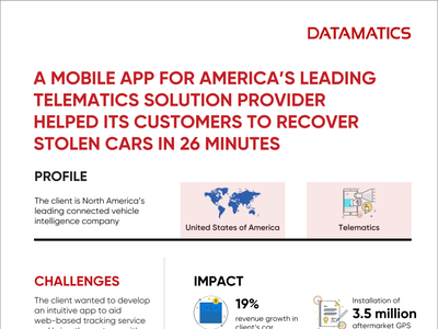 Infographic - Mobile App Development To Recover Stolen Cars infographics mobile app developers artificial intelligence casestudy infographic app development infopgraphics infographic infogra