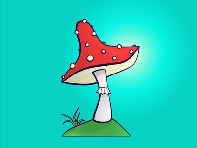 mushroom digital design color desigh cartoon illustration mushroom cartoon