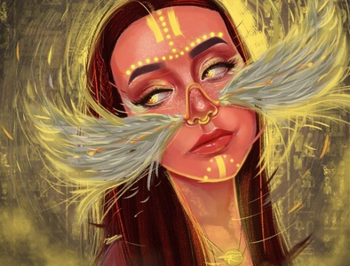THE ANGELIC WITCH paint article yoga witch ancient egypt egypt shots animation digital art digital illustration drawing digital painting digitalart colors color artwork artist art direction art