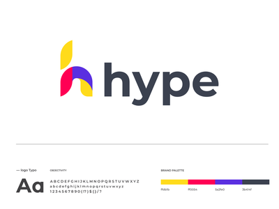 Hype Logo Design icon logo designer modern logo design modern logo modern logodesign logo h letter logo hype corporate identity company colorful business buliding branding brand identity app abstract logo