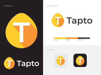 "Tapto,  ""T"" letter Modern Logo creative logo corporate identity colorful abstract mark tecnology logo mark logo design t letter logo letter business modern logo branding brand identity app icon symbol"