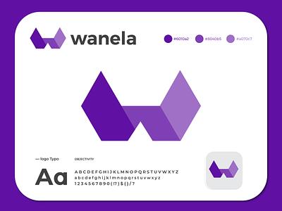wanela logo icon business w logo company creative logo logo mark logo design branding app icon modern logo brand identity