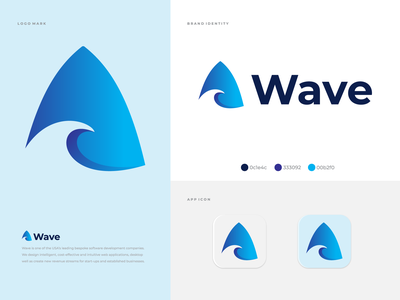 Wave logo & brand identity business logo set company app icon colorful logo mark logo design creative logo wave logo wave modern logo branding brand identity