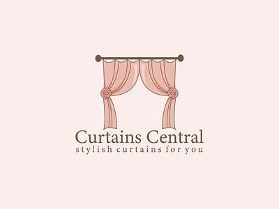 Curtains Central Logo Design logo logo mark app icon illustration logo design creative logo modern logo branding brand identity