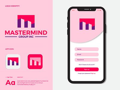 "MASTERMIND Design and Branding ""M"" letter Logo graphic design logo logo design logo mark creative logo app icon modern logo branding brand identity m logo"