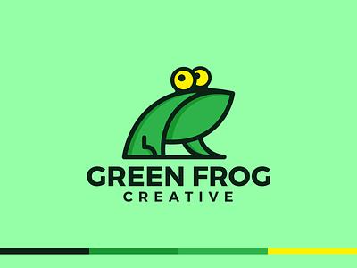 Green frog Modern Logo Design logo frog logo design logo design logo mark creative logo app icon modern logo branding brand identity