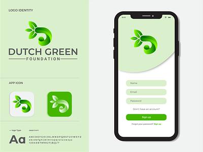 DUTCH GREEN Modern Logo Design and Branding logo illustration design logo design logo mark creative logo app icon modern logo branding brand identity d logo