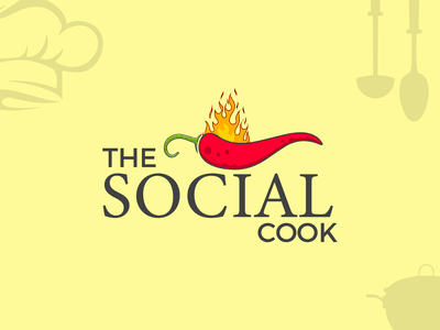 The Social Cook Modern Logo Design and Branding branding logo illustration design logo design logo mark creative logo app icon modern logo brand identity