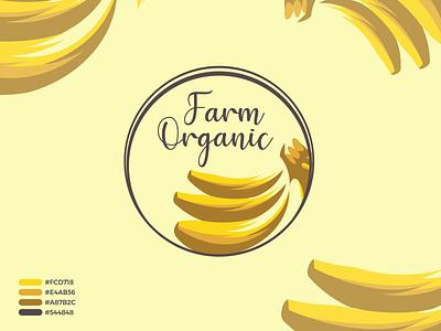 Farm Organic Modern Logo Design and Branding design logo illustration logo design logo mark creative logo app icon modern logo branding brand identity banana logo