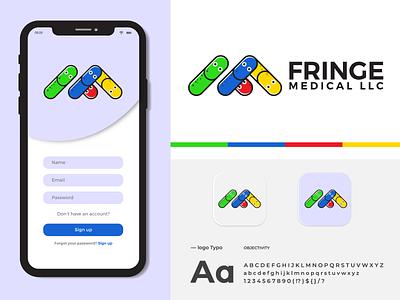 """Fringe Medical LLC _Design and Branding """"F & M"""" letter Logo logo illustration design logo design logo mark creative logo app icon modern logo branding brand identity"""