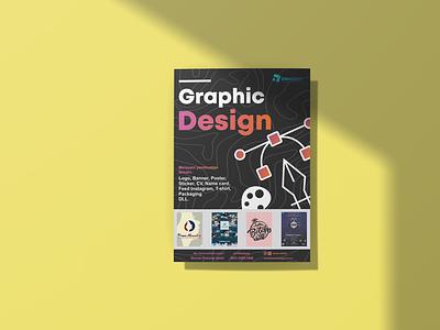 Graphic design service advertisement advertisement banner poster vector illustration minimal branding logo illustrator graphic design design