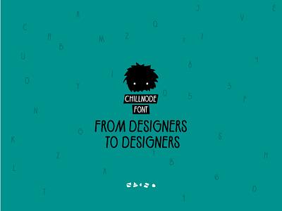 Chillnode font illustration animation free font typography motion design illustrator graphic after effects