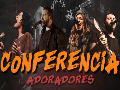 Conferência de Adoradores illustration design gospel conference