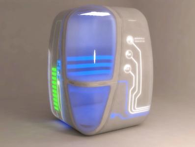 New unique futuristic 3D design for a CRYO Cabine 3d