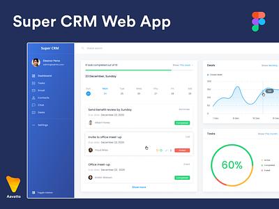 CRM Web App Designs application web ux flat clean ui minimal design branding app