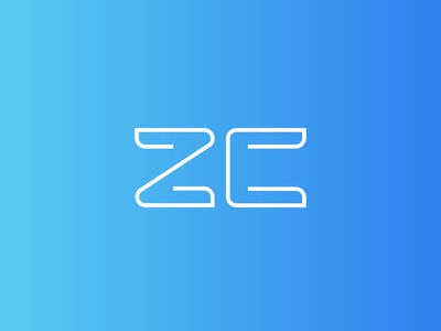 ZC LOGO vector logo design graphic design branding