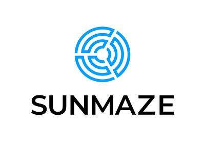 SUNMAZE LGO illustration logo vector design graphic design branding