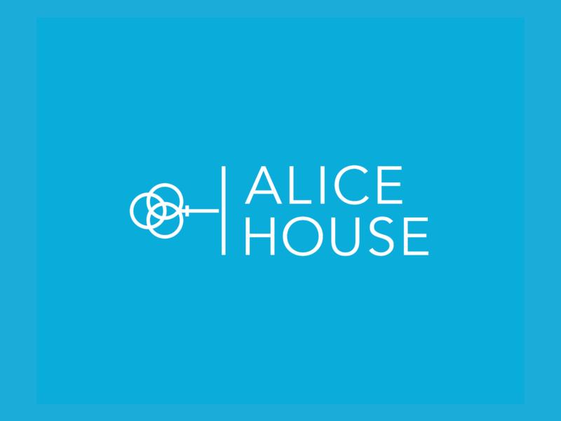 Alice House Identity minimalist logo brand mark non-profit nonprofit women key collateral website brand identity branding