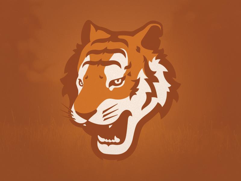 Golden Tiger logo sports logo tiger