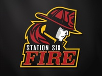 Station Six Fire Full Logo